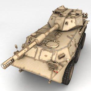 3d rusty tank destroyer model