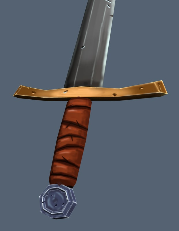 3d hand painted sword