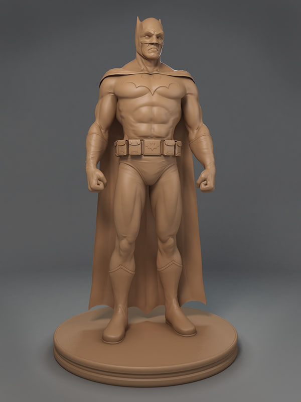 batman ztl zbrush 3d model