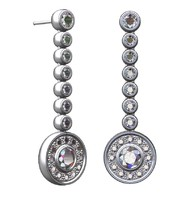 Round diamonds links earrings