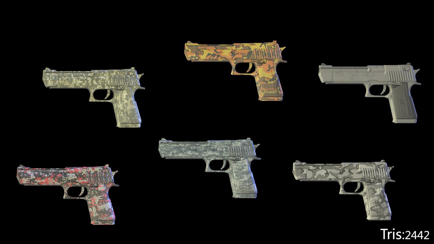 maya sniper rifles pistol