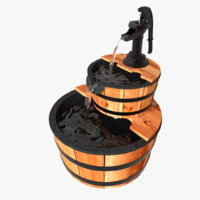 3ds barrel water fountain