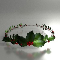 holly crown 3d model
