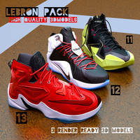 lebron basketball shoe pack 3d c4d
