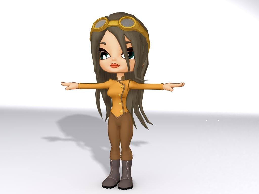 rigged cartoon 3d model