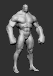3d heroic character base