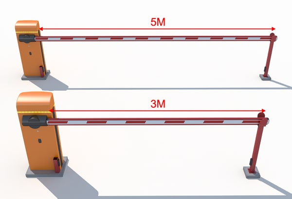 automatic road barrier 3d max