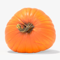3d max orange halloween pumpkin
