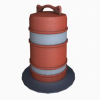 3d traffic barrel