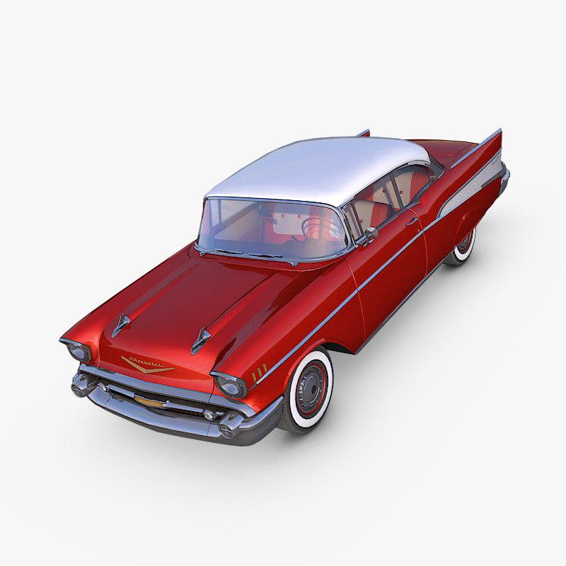 chevrolet bel air 1957 3d max