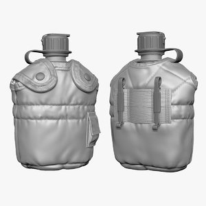 3d military canteen zbrush model