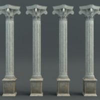 3d model of pillar classic