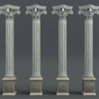 3d model of pillar classic