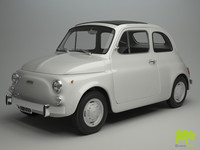 Fiat 500 R 1975 3D Model