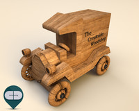 3dsmax wood car wooden