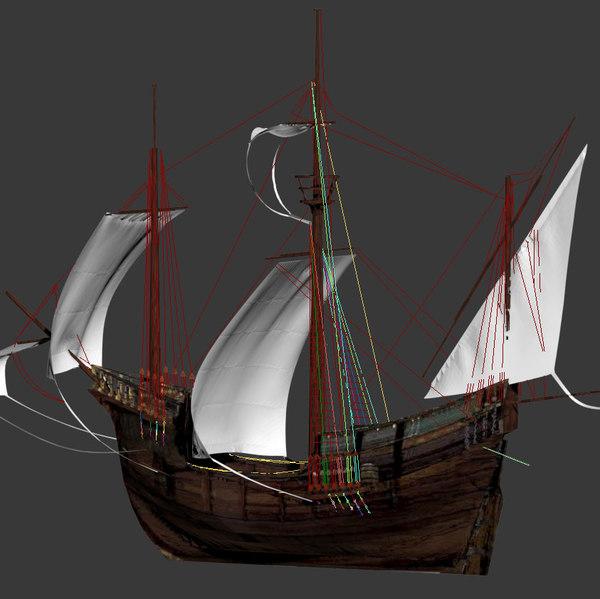medieval carrack 3d model