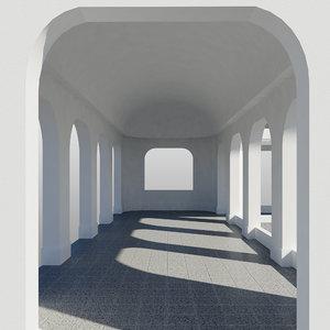 3d colonnade