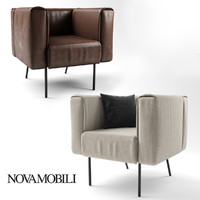 3d model armchair novamobili onni