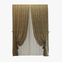 3d luxury curtain rubelli model