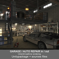 Garage Auto Repair low poly