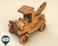 3ds wood car wooden