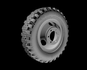 3d model wheel truck gaz-53