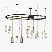 chandelier clock 3d 3ds