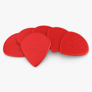 plectrum 07 2 colors 3d model