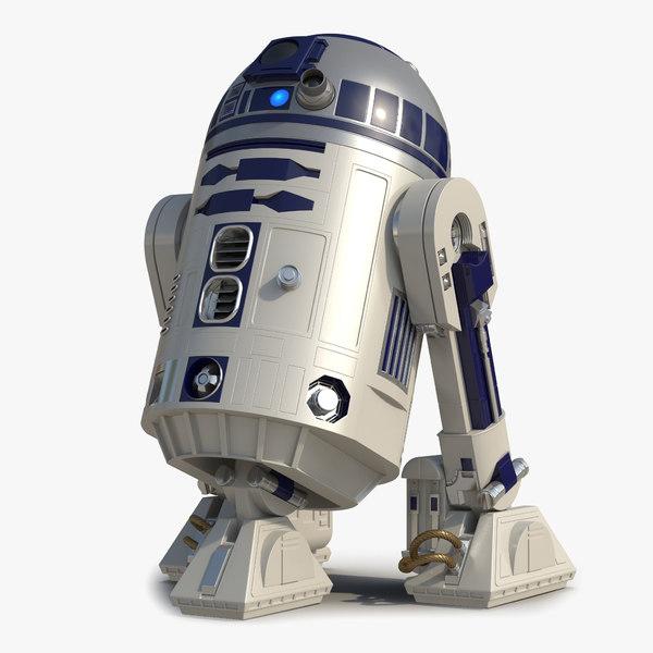 star wars character r2 d2 3d model