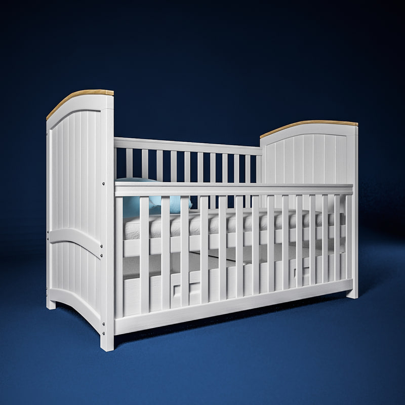 3dsmax barcelona cot bed