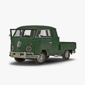 volkswagen type 2 double 3d model