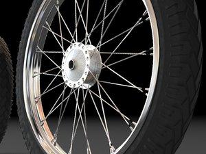 honda tyre rim wheel 3d obj