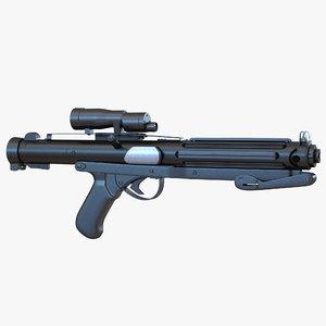 3d star wars stormtrooper gun model