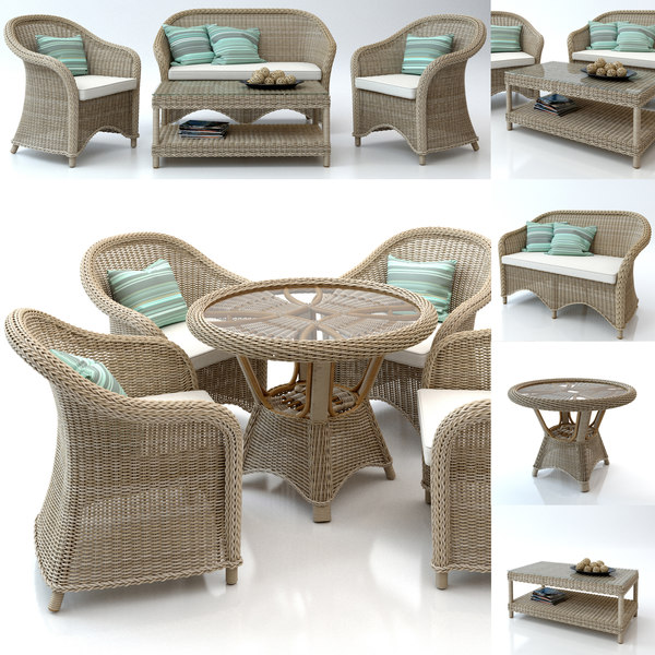 3d rattan furniture