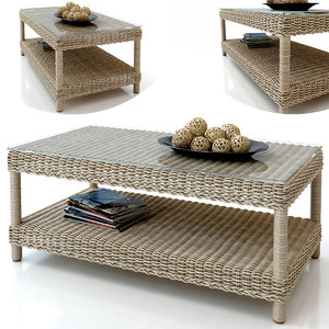 3d journal table rattan model