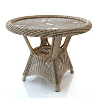 Rattan table round