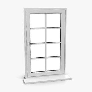 plastic window 6 3d 3ds