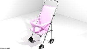 3ds baby trolley