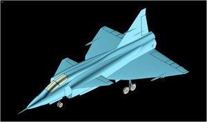 3d saab viggen aircraft solid model