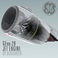 genx-2b jet engine 3d model
