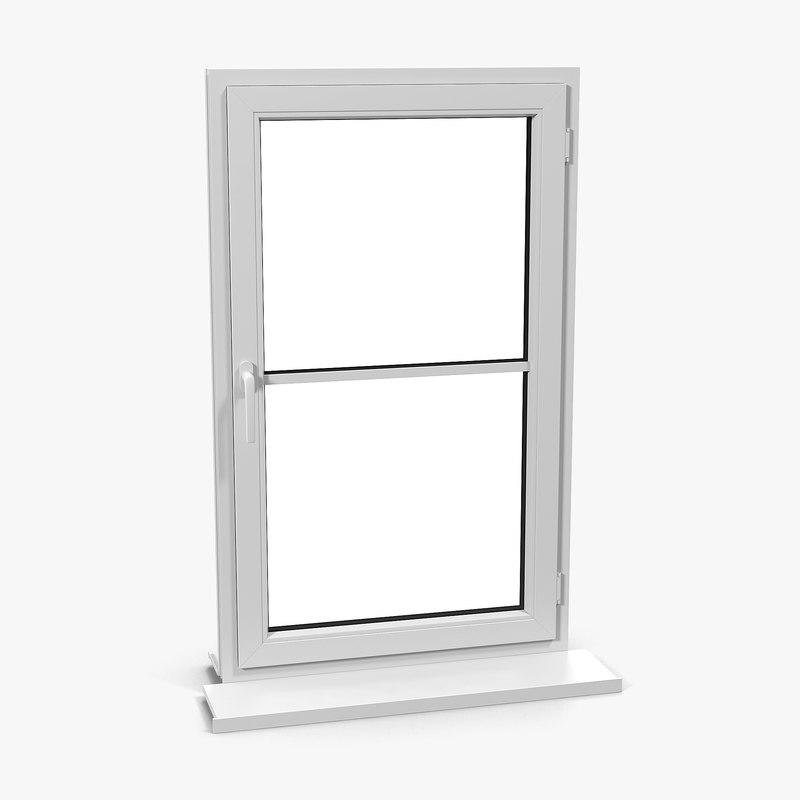 plastic window 3 3d c4d