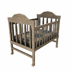 baby crib fbx