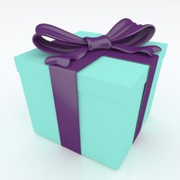 paper gift box 3d model