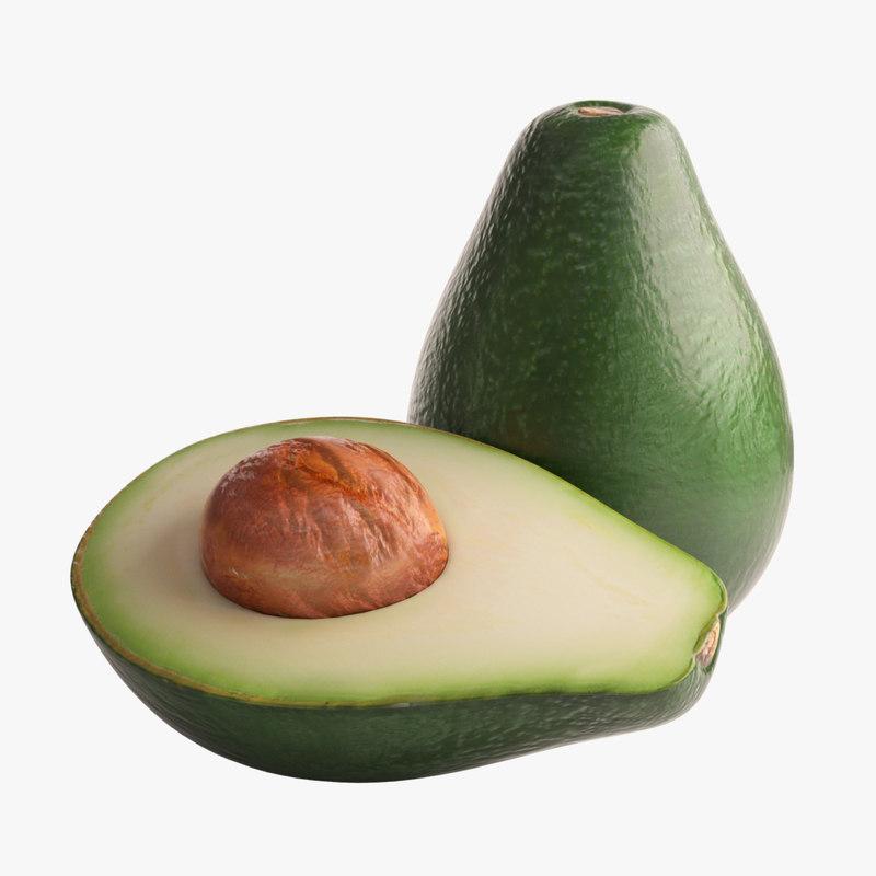 avocado photorealistic 3d model
