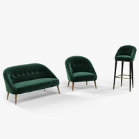 Brabbu Malay armchair, sofa and bar chair