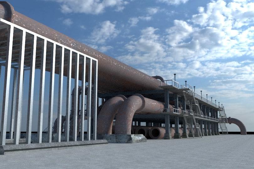 3d refinery 3 model