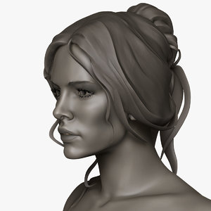 zbrush female eva 3d model