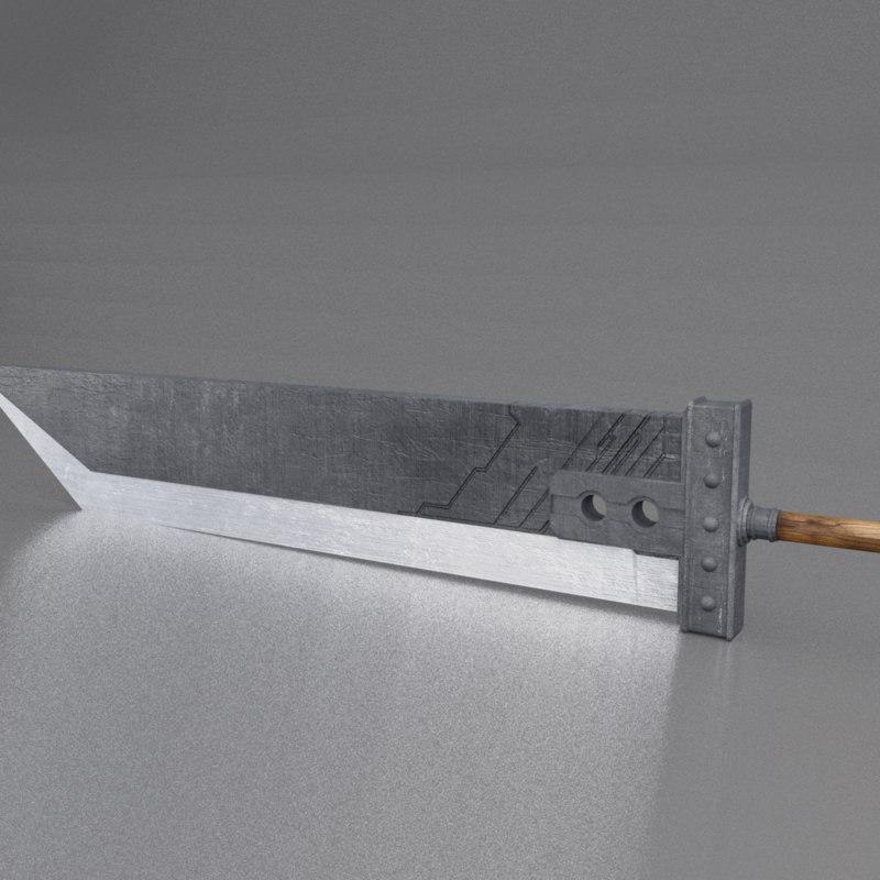 3d model buster sword
