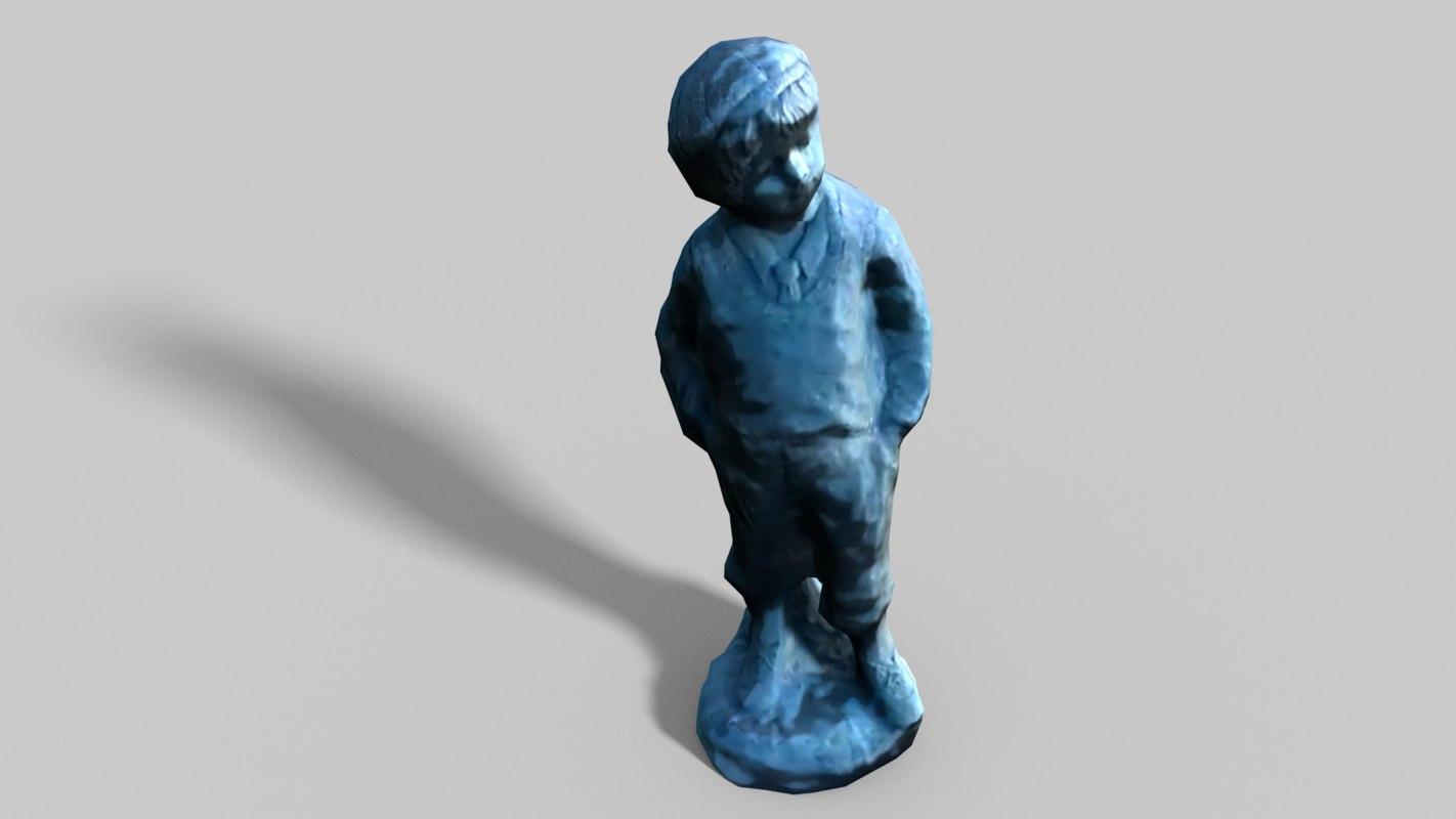 3d statue boy