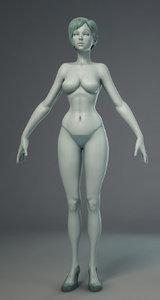 3d stylized girl model